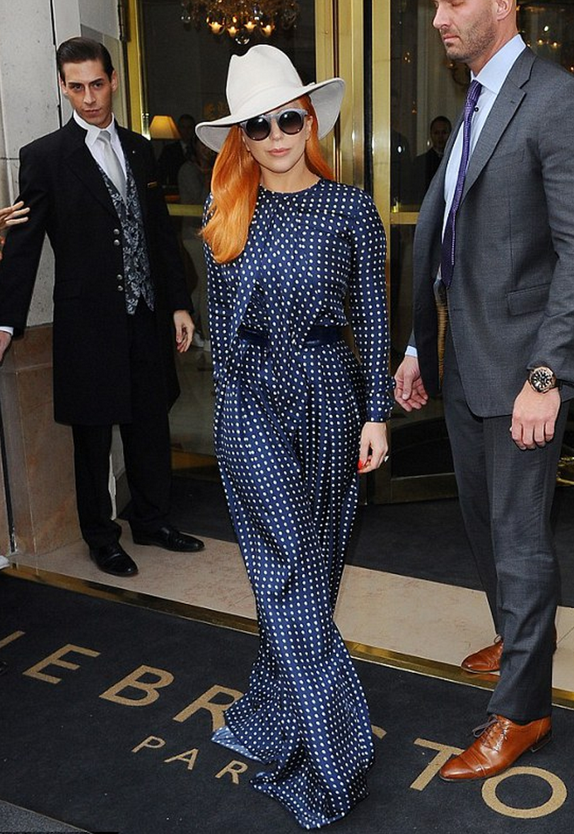 Martin Grant - Lady Gaga wearing Martin Grant at Paris Fashion Week