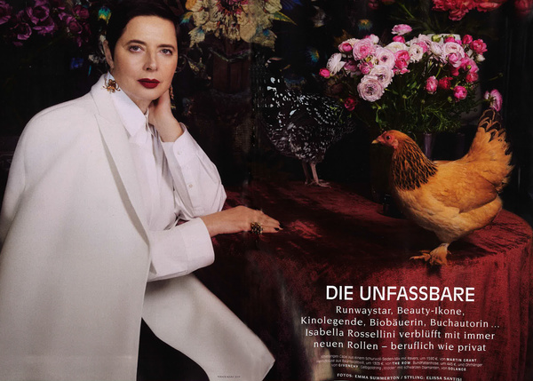 Martin Grant - Isabella Rossellini, VOGUE GERMANY